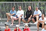 04 September 2011: Toronto FC's Paul Mariner (ENG) (back row, second from left) scouts the game. The University of California Santa Barbara Broncos defeated the North Carolina State University Wolfpack 1-0 at Koskinen Stadium in Durham, North Carolina in an NCAA Division I Men's Soccer game.