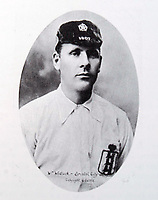 BNPS.co.uk (01202 558833)Pic: EastBristolAuctions/BNPS<br /> <br /> PICTURED: Billy Wedlock, William 'Fattie' Wadlock was such a legend for Bristol City he had a stand and a pub named after him.<br /> David Beckham was once famously lampooned for wearing his wife's underwear.But had he plied his trade 100 years before he wouldn't have been alone on the football pitch in wearing knickers, according to a fascinating document that has come to light.The four page itinerary was given to England footballers ahead of a match in 1912.In it was the instruction for all players to bring 'dark knickers' to wear during the game.