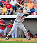 15 March 2009: Detroit Tigers' infielder Jeff Larish in action during a Spring Training game against the Washington Nationals at Space Coast Stadium in Viera, Florida. The Tigers shut out the Nationals 3-0 in the Grapefruit League matchup. Mandatory Photo Credit: Ed Wolfstein Photo