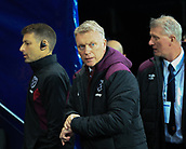 3rd December 2017, Etihad Stadium, Manchester, England; EPL Premier League football, Manchester City versus West Ham United; David Moyes manager of West Ham checking the time to kickoff