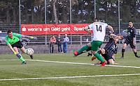 Kevin Witt (St. Stephan) staubt den Abpraller ab und vollstreckt zum 1:1 - 31.03.2019: SV St Stephan Griesheim vs. SV 07 Geinsheim, Kreisoberliga Darmstadt/Gross-Gerau