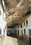 Buildings built with cave rock roof at Setenil de las Bodegas, Cadiz province, Spain