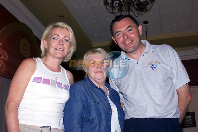 Catherine McHugh, mary Burke and James Behan at the Bands night in the West Court Hotel;..Picture Fran Caffrey Newsfile...This Picture is sent to you by:..Newsfile Ltd.The View, Millmount Abbey, Drogheda, Co Louth, Ireland..Tel: +353419871240.Fax: +353419871260.GSM: +353862500958.ISDN: +353419871010.email: pictures@newsfile.ie.www.newsfile.ie