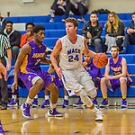 22 November 2015: Yeshiva University Maccabee Guard Shaje Weiss, a Senior from Edison, NJ, in first half action against the Hunter College Hawks at the Max Stern Athletic Center  in New York, NY. The Maccabees defeated the Hawks 81-71 in non-conference play, for their second win of the season. Mandatory Credit: Ed Wolfstein Photo *** RAW (NEF) Image File Available ***