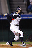 Ichiro Suzuki of Japan during World Baseball Championship at Angel Stadium in Anaheim,California on March 15, 2006. Photo by Larry Goren/Four Seam Images