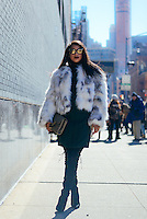 Hannah Bronfman attends Day 2 of New York Fashion Week on Feb 13, 2015 (Photo by Hunter Abrams/Guest of a Guest)