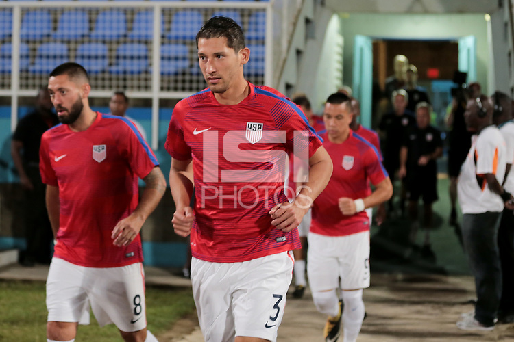 Couva, Trinidad & Tobago - Tuesday Oct. 10, 2017: Omar Gonzalez during a 2018 FIFA World Cup Qualifier between the men's national teams of the United States (USA) and Trinidad & Tobago (TRI) at Ato Boldon Stadium.