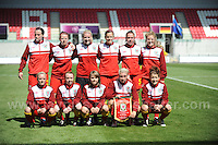 The Wales team. The UEFA Womens U19 Championships at Parc y Scarlets, Monday 19th August 2013. All images are the copyright of Jeff Thomas Photography-www.jaypics.photoshelter.com-07837 386244-Any use of images must be authorised by the copyright owner.