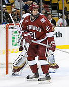 Alex Meintel (Harvard University - Yarmouth, ME) - The Boston College Eagles defeated the Harvard University Crimson 3-1 in the first round of the 2007 Beanpot Tournament on Monday, February 5, 2007, at the TD Banknorth Garden in Boston, Massachusetts.  The first Beanpot Tournament was played in December 1952 with the scheduling moved to the first two Mondays of February in its sixth year.  The tournament is played between Boston College, Boston University, Harvard University and Northeastern University with the first round matchups alternating each year.