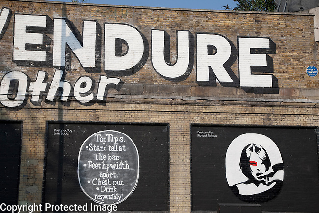 Lets Adore and Endure Each Other Stefan Powers - Art Mural in Shoreditch London with designs from Luke Booth and Richard Sibbom