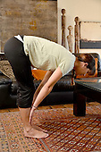 Women in Home Doing Yoga