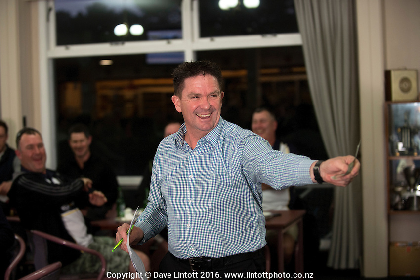 Cricket Wellington Golf Day and auction at Shandon Golf Club, Petone, Wellington, New Zealand on Saturday, 23 July 2016. Photo: Dave Lintott / lintottphoto.co.nz