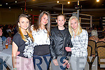 Watching the Champion Thai boxing club Night of Champions at the Brandon hotel, Tralee on Saturday l-r: Angelika Stolarz, Maja Ziembicka, Julia Swigon and Angelika Starosz.