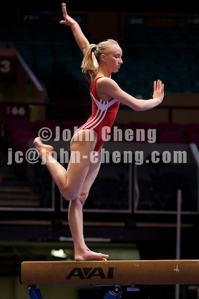 2/29/2008 - Photo by John Cheng.  Tyson American Cup .Day 1 Training Session.Photo by John Cheng - Tyson American Cup 2008 in Madison Square Garden, New York.Nastia Liukin