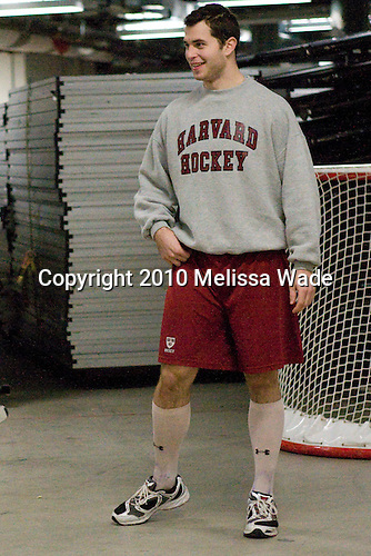 David Valek (Harvard - 22) - The Boston University Terriers defeated the visiting Harvard University Crimson 5-2 on Saturday, January 15, 2011, at Agganis Arena in Boston, Massachusetts.