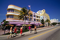 Miami beach road or Ocean Boulevard in Florida, USA