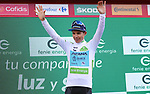Miguel Angel Lopez Moreno (COL) Astana Pro Team retains the young riders White Jersey at the end of Stage 11 of La Vuelta 2019 running 180km from Saint Palais, France to Urdax-Dantxarinea, Spain. 4th September 2019.<br /> Picture: Luis Angel Gomez/Photogomezsport | Cyclefile<br /> <br /> All photos usage must carry mandatory copyright credit (© Cyclefile | Luis Angel Gomez/Photogomezsport)