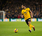 11th February 2019, Molineux, Wolverhampton, England; EPL Premier League football, Wolverhampton Wanderers versus Newcastle United; Jonny Otto of Wolverhampton Wanderers on the ball looking for a pass