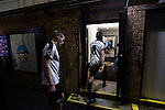 Home players walking into the dressing room at the Crabble after National League Dover Athletic hosted League 2 Cambridge United in an FA Cup first round replay. The club was founded in 1983 after the dissolution of the town's previous club Dover FC, whose place in the Southern League was taken by the new club. Cambridge United won the tie by 4-2 after extra time, watched by a crowd of 1158.