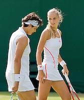 28-06-12, England, London, Tennis , Wimbledon, Arantxa Rus and Eleni Danillidou(L)