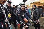 Italian National Champion Fabio Aru (ITA) UAE Team Emirates loses more time at the end of Stage 15 of the 2018 Giro d'Italia, running 156km from Tolmezzo to Sappada, Italy. 20th May 2018.<br /> Picture: LaPresse/Massimo Paolone | Cyclefile<br /> <br /> <br /> All photos usage must carry mandatory copyright credit (&copy; Cyclefile | LaPresse/Massimo Paolone)