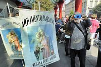 - Milano, manifestazione di cattolici oltranzisti  e partito neofascista Forza Nuova contro la legge 194 sull'aborto<br /> <br /> - Milan, demonstration of catholics extremists and neo-fascist party Forza Nuova against the law 194 on abortion.