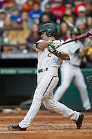 Baylor Bears second baseman Steven McLean (2) swings the bat during the NCAA baseball game against the LSU Tigers on March 7, 2015 in the Houston College Classic at Minute Maid Park in Houston, Texas. LSU defeated Baylor 2-0. (Andrew Woolley/Four Seam Images)