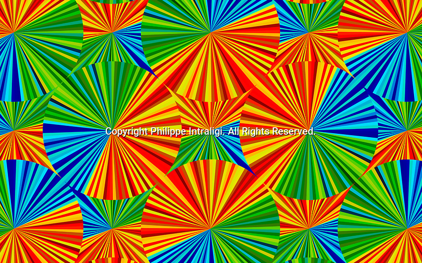 Abstract full frame bright colour kaleidoscope backgrounds pattern