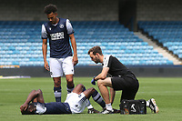 Junior Tiensia of Millwall suffers an injury in the first half during Millwall Under-23 vs Burnley Under-23, Professional Development League Football at The Den on 9th August 2019