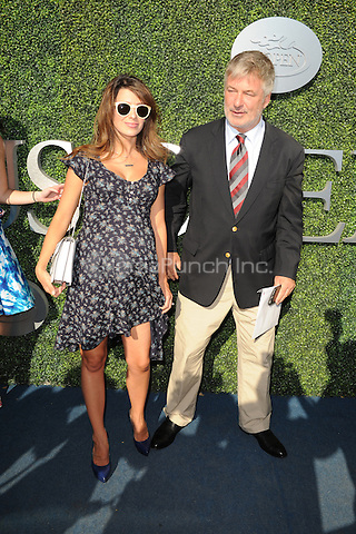 FLUSHING NY- AUGUST 29: Alec Baldwin and Hilaria Baldwin arrive during opening night ceremonys on Arthur Ashe Stadium at the USTA Billie Jean King National Tennis Center on August 29, 2016 in Flushing Queens. Photo by MPI04/MediaPunch
