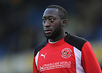 Fleetwood Town's Toumani Diagouraga during the pre-match warm-up <br /> <br /> Photographer Kevin Barnes/CameraSport<br /> <br /> The EFL Sky Bet League One - Oxford United v Fleetwood Town - Tuesday 10th April 2018 - Kassam Stadium - Oxford<br /> <br /> World Copyright &copy; 2018 CameraSport. All rights reserved. 43 Linden Ave. Countesthorpe. Leicester. England. LE8 5PG - Tel: +44 (0) 116 277 4147 - admin@camerasport.com - www.camerasport.com