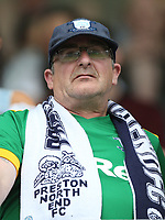 Preston fan<br /> <br /> Photographer Rob Newell/CameraSport<br /> <br /> The EFL Sky Bet Championship - Millwall v Preston North End - Saturday 3rd August 2019 - The Den - London<br /> <br /> World Copyright © 2019 CameraSport. All rights reserved. 43 Linden Ave. Countesthorpe. Leicester. England. LE8 5PG - Tel: +44 (0) 116 277 4147 - admin@camerasport.com - www.camerasport.com