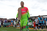 Goalkeeper Scott Brown of Wycombe Wanderers comes out for the Friendly match between Maidenhead United and Wycombe Wanderers at York Road, Maidenhead, England on 30 July 2016. Photo by Alan  Stanford PRiME Media Images.