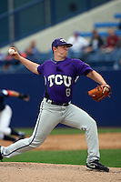 February 22 2009: Kyle Winkler of the TCU Horned Frogs during game against the CSUF Titans at Goodwin Field in Fullerton,CA.  Photo by Larry Goren/Four Seam Images