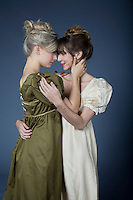 Lesbian themed romance novel cover images for a special collection.