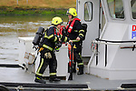 A combines exercise between Drogheda Port Company vessels Boyne Protector and Havalock, Drogheda Fire Service and Drogheda Unit of the Irish coast guard.<br /> Picture: www.newsfile.ie