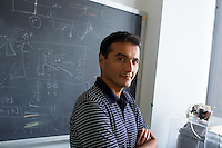 Dr. Paulo Lozano is the director of the Space Propulsion Laboratory in MIT's Department of Aeronautics and Astronautics in Cambridge, Massachusetts, USA. One of the projects developed by the lab is the ion Electrospray Propulsion System (iEPS) for CubeSats.  The device is used to maneuver a 10cm cubic satellite in space. Ph.D. candidates and researchers in the lab Natalya Brikner and Louis Perna have formed a company, Accion Systems Incorporated, to commercialize the research. Brikner, graduating in Winter 2014, is CEO of the company, and Perna is co-founder. The research at MIT was done under Space Propulsion Lab director Paulo Lozano, professor in MIT's Department of Aeronautics and Astronautics.