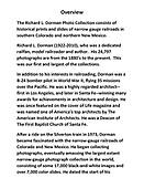 Richard L. Dorman Photo Collection Overview