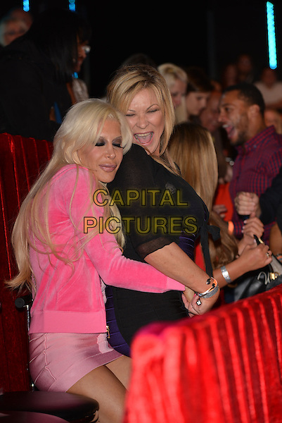 BOREHAMWOOD, ENGLAND - SEPTEMBER 12: Angelique &quot;Frenchy&quot; Morgan &amp; Claire King at  Celebrity Big Brother Final at Elstree Studios on September 12, 2014 in Borehamwood, England.<br /> CAP/PL<br /> &copy;Phil Loftus/Capital Pictures