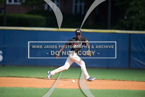 Bryce Myers #18 during the Team One South Showcase presented by Baseball Factory at Chappell Park on July 14, 2012 in Atlanta, Georgia.  (Copyright Mike Janes Photography)