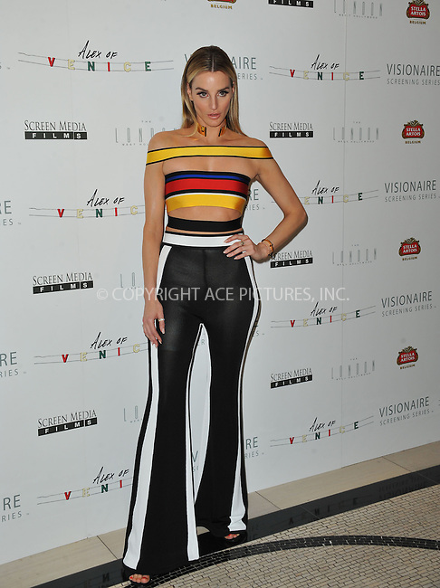 WWW.ACEPIXS.COM<br /> <br /> April 8 2015, LA<br /> <br /> Katie Nehra arriving at the premiere of 'Alex Of Venice' at The London West Hollywood on April 8, 2015 in West Hollywood, California. <br /> <br /> By Line: Peter West/ACE Pictures<br /> <br /> <br /> ACE Pictures, Inc.<br /> tel: 646 769 0430<br /> Email: info@acepixs.com<br /> www.acepixs.com