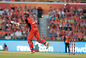 8th January 2018, The WACA, Perth, Australia; Australian Big Bash Cricket, Perth Scorchers versus Melbourne Renegades; Cameron White of the Melbourne Renegades comes down the wicket only to get a short ball