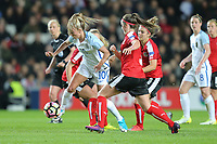 Toni Duggan (Manchester City) of England Women on the ball during the Women's Friendly match between England Women and Austria Women at stadium:mk, Milton Keynes, England on 10 April 2017. Photo by PRiME Media Images / David Horn.