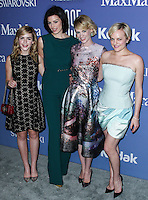 BEVERLY HILLS, CA- JUNE 12: Kiernan Shipka, Jessica Pare, January Jones and Elisabeth Moss arrive at the Women In Film's 2013 Crystal + Lucy Awards at The Beverly Hilton Hotel on June 12, 2013 in Beverly Hills, California. (Photo by Celebrity Monitor)