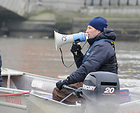 Putney. London. Tideway Week build up to the   2012 University Boat Race over parts of the Championship Course - Putney to Mortlake. OUBC, Chief Coach, Sean BOWDEN. Thursday  05/04/2012 [Mandatory Credit; Karon Phillips/Intersport-images]..