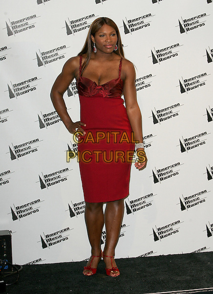 SERENA WILLIAMS.The 33rd Annual American Music Awards held at The Shrine Auditorium in Los Angeles, California  .November 22nd, 2005.Ref: DVS.full length red dress .www.capitalpictures.com.sales@capitalpictures.com.Supplied By Capital PIctures