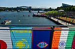 CHATTANOOGA, TN - SEPTEMBER 8:  A general view of the swim course in the Tennessee River under the John Ross Bridge during the warm-ups for the IRONMAN 70.3 St. World Championships on September 8, 2017 in Chattanooga, Tennessee. (Photo by Donald Miralle for IRONMAN)