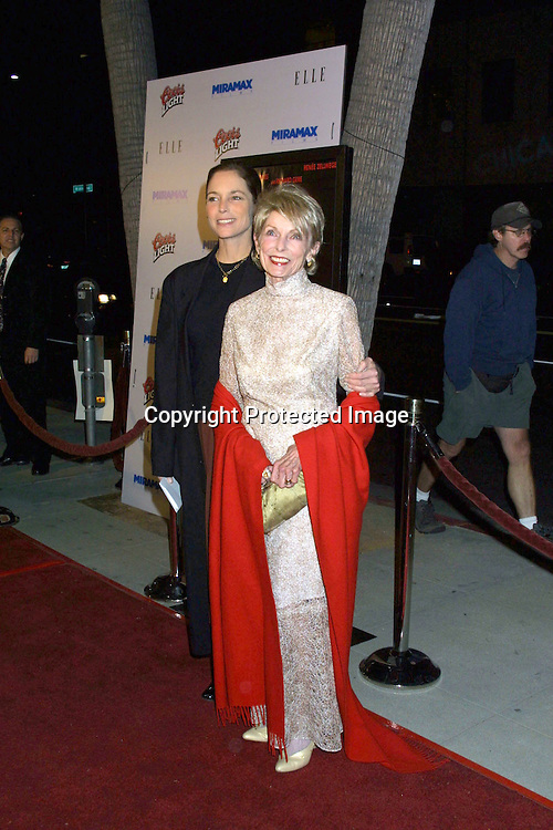 "©2002 KATHY HUTCHINS/HUTCHINS PHOTO.""CHICAGO"" PREMIERE SCREENING.BEVERLY HILLS, CA.DECEMBER 10, 2002..KELLY CURTIS (JANET'S DAUGHTER).JANET LEIGH"