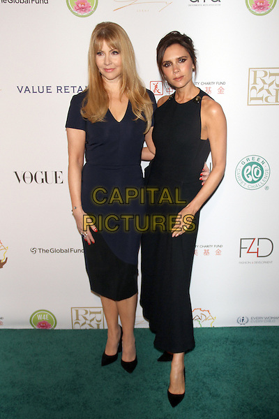 NEW YORK, NY - SEPTEMBER 28: Victoria Beckham and Evie Evangelou at the Fashion 4 Development's 5th annual Official First Ladies luncheon at The Pierre Hotel on September 28, 2015 in New York City. <br /> CAP/MPI/RW<br /> &copy;RW/MPI/Capital Pictures