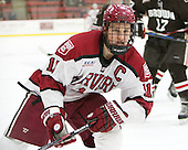Kyle Criscuolo (Harvard - 11) - The Harvard University Crimson defeated the Brown University Bears 4-3 to sweep their first round match up in the ECAC playoffs on Saturday, March 7, 2015, at Bright-Landry Hockey Center in Cambridge, Massachusetts.